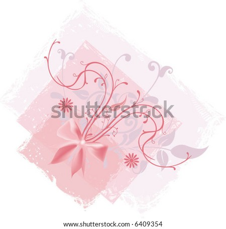 floral design with pink bow