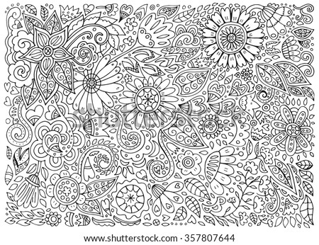 Flower Doodle Pattern Download Free Vector Art Stock Graphics Magnificent Pattern Doodle