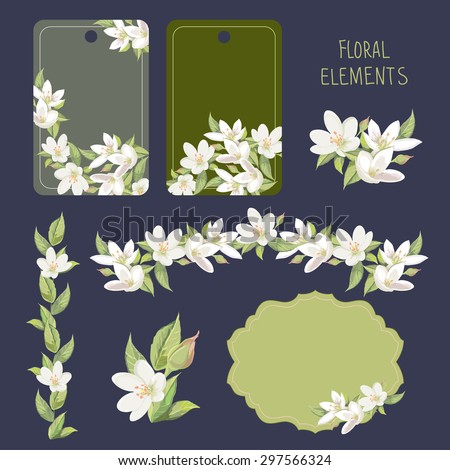 floral elements for card