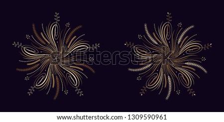 floral flourish ornament in