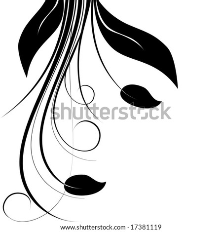 Floral flourish vector illustration