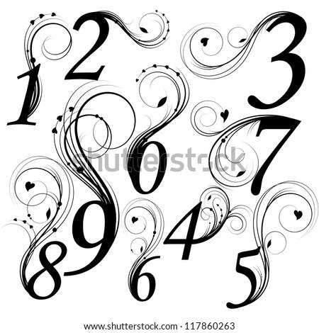 Stylish number fonts