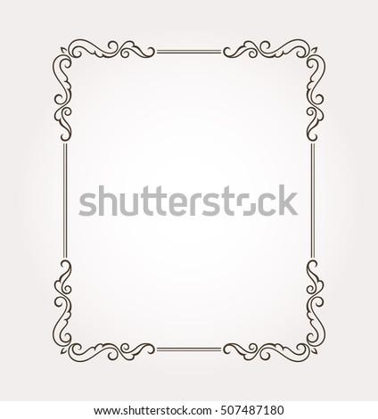 Floral frame border. Fancy page decoration. Vector illustration #507487180
