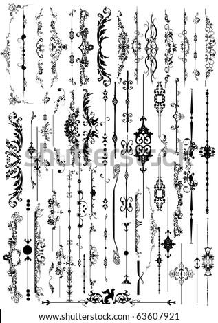 floral frame element   vector