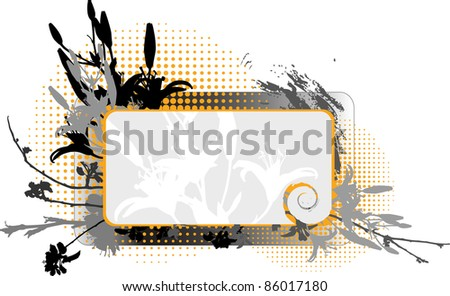 Floral frame III - stock vector