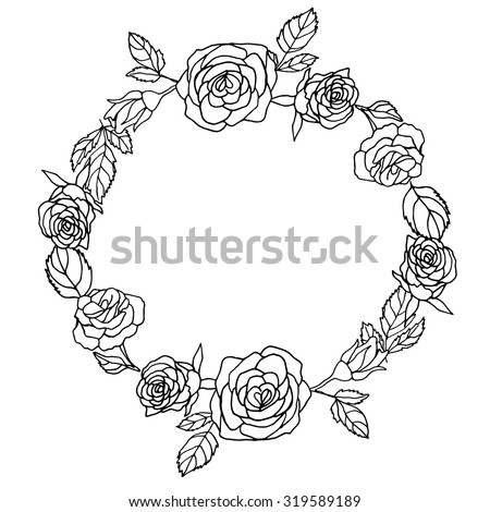 Rose Clip art - Two black and white roses png download - 560*602 - Free  Transparent Rose png Download. - Clip Art Library