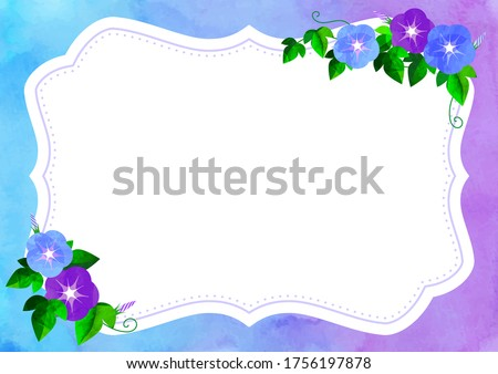 floral frame with morning glory