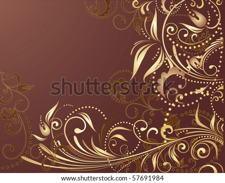 Gold Png Vector Stock Vector Floral Gold