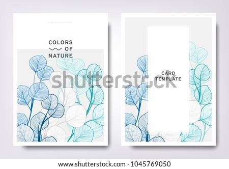 floral greeting invitation card