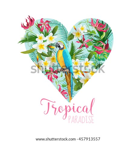 floral heart graphic design