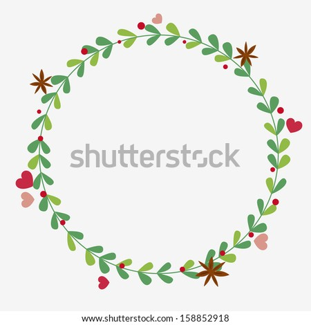 Floral holiday wreath