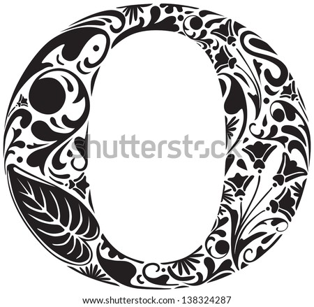 Floral Capital Letters Download Free Vector Art Stock Graphics