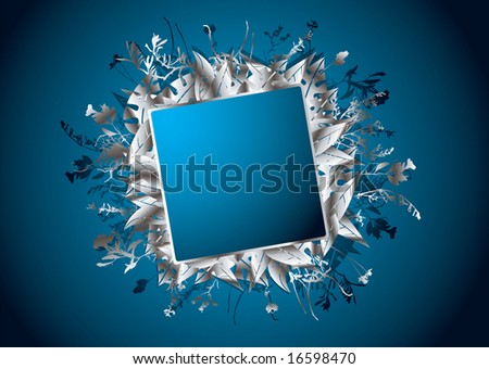 banner background blue. silver anner background