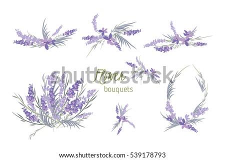 floral lavender retro vintage