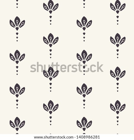 Floral leaf motif persian style. Vector seamless pattern. Arabesque boteh foulard textiles swatch. Classic damask home decor. Traditional ogee motif. Trendy art deco ethnic all over print.