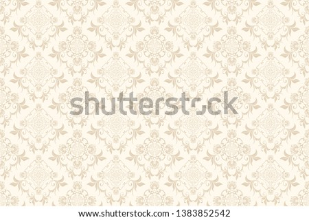 floral light brown ornament on