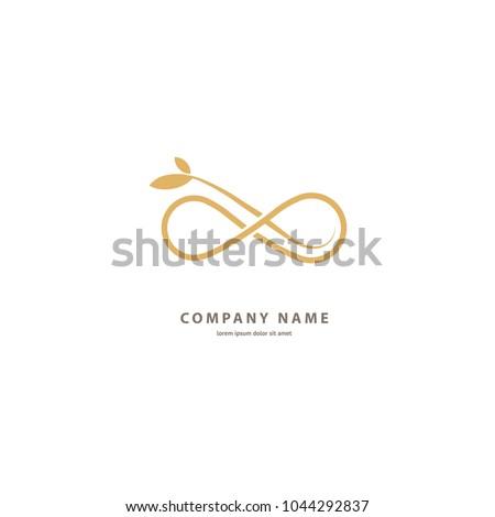 Floral logo. Flower wedding icon. Luxury retro emblem. Cosmetics, Spa, Beauty salon, Decoration, Boutique vector logo. Royal Jewelry, Hotel, Premium Logo. Resort and Restaurant design illustration.