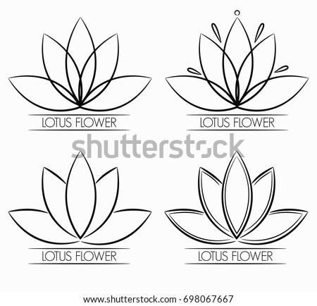 Royalty free beautiful lotus flower line 360812921 stock photo floral lotus flower logo abstract 698067667 mightylinksfo