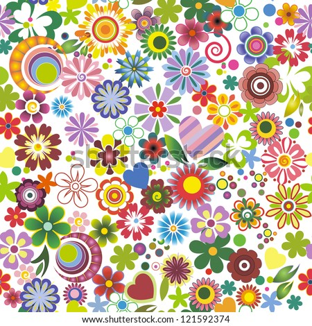 Floral mix - stock vector