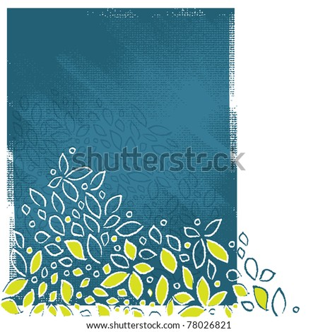 floral motive background, artistic painterly style, grunge vector - stock vector