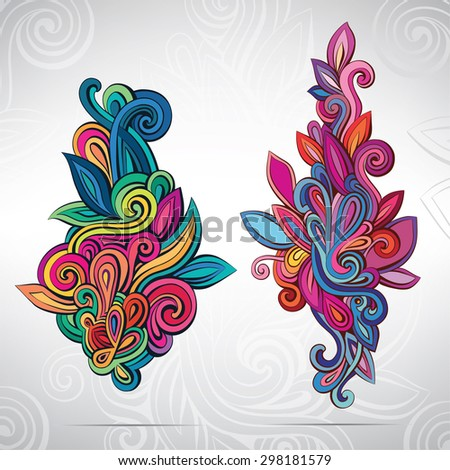 floral ornament in colors
