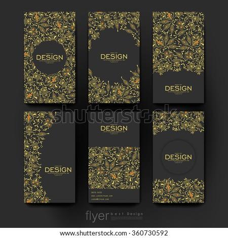 floral ornament vector brochure