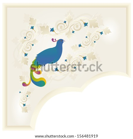 Floral ornament with a pheasant by BibiDesign