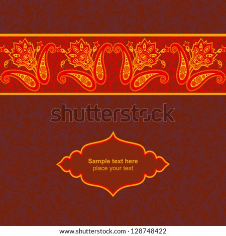 Floral ornamental card template #128748422