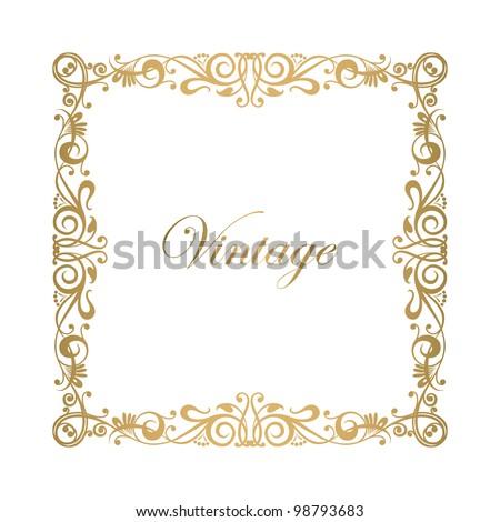 Floral ornamental decorative frame vector