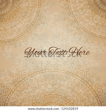 Floral ornaments on vintage background with space for your text
