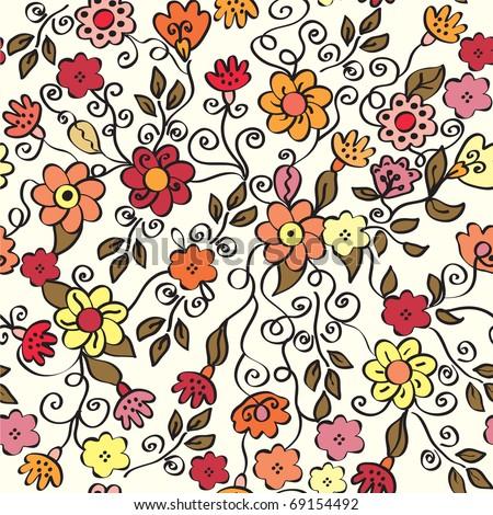 floral ornate seamless pattern