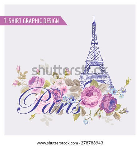 floral paris graphic design