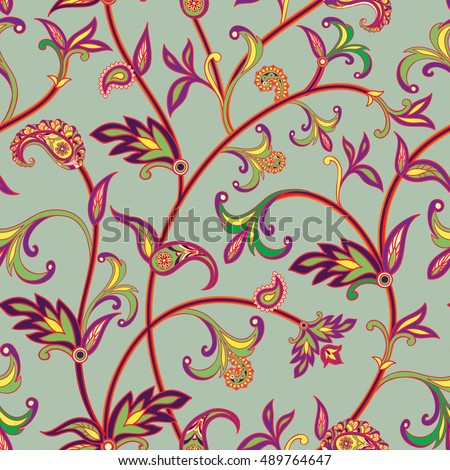 floral pattern flourish tiled