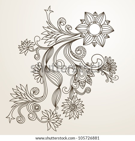 The pictures for Flower Pattern Drawing