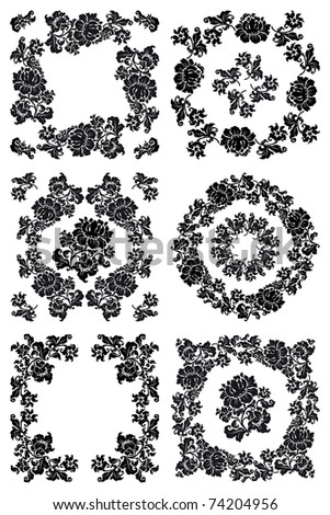 Floral Pattern in black