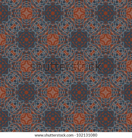 floral pattern in red and blue