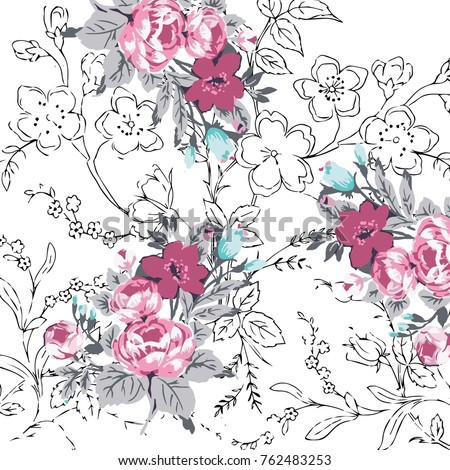 floral pattern in vector