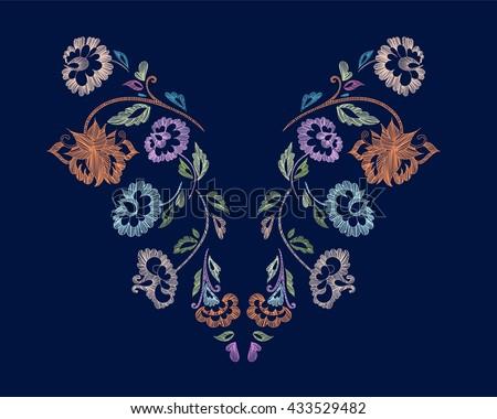 floral pattern   neck line