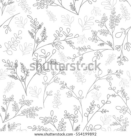 floral pattern of small plants