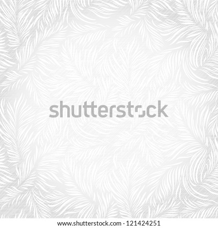 Floral pattern on a frosty window. Vector illustration contains two seamless