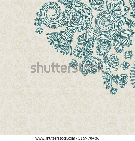 Floral pattern on seamless background