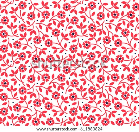 Ditsy red flower free vector download free vector art stock floral pattern pretty flowers on white background printing with small red flowers ditsy mightylinksfo
