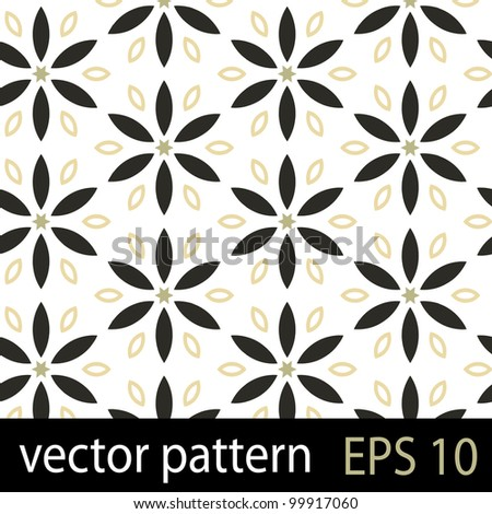 Floral pattern. Seamless vector background