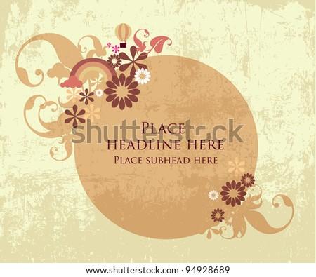 floral pattern template vector/illustration