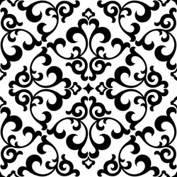 Floral pattern. Wallpaper baroque, damask. Seamless vector background. Black and white ornament. Graphic modern pattern.