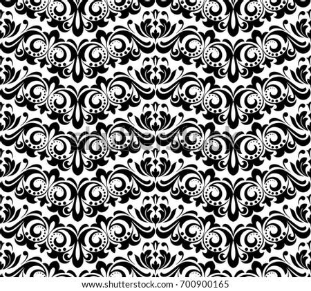 Dark Floral Vector Western Flourish Pattern Download Free Vector