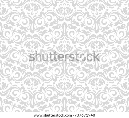 Floral pattern. Wallpaper baroque, damask. Seamless vector background. Graphic modern pattern.