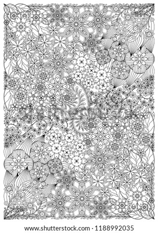 Floral patterns Coloring Pages for Adults, soothing design