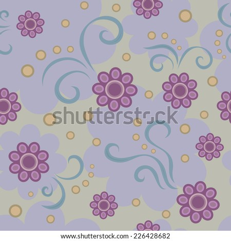 Floral  purple background purple flower 1