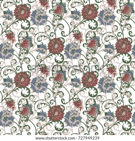 floral rapport for wallpaper or ...